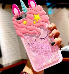 e2af302de 3d Cartoon Pink Quicksand Unicorn Soft Silicone Liquid Stars Case For  Iphone 7 Plus 8 6 6s Plus 5 S 5s Se Xs Max Xr X Phone Case