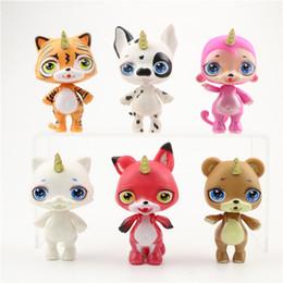 Vente en gros enfants 6pcs / set Poopsie Slime Surprise Licorne Spray eau Sparkly Critter et Cutie Tooties Bundle Spit Muc Poupée Squishy