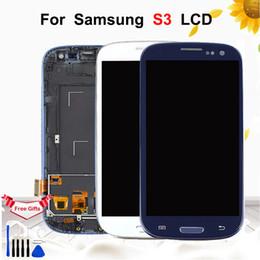 $enCountryForm.capitalKeyWord Australia - 4.8'' LCD For Samsung Galaxy S3 i9300 i9300i i9308i Display Touch Screen Digitizer Assembly With Frame For Samsung S3 Display