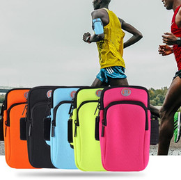 Cellphone Keys Australia - Outdoor Sport Cellphone Arm Bags Running Fitness Wristband Arm Bags cycle Mobile phone bag wallet key Storage Purse 5 Colors #BB01