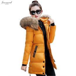fur hoodies for women UK - Fur Collar For Women Winter Jacket Coat Hoodie Womens Park Womens Jaqueta Winter Jacket For Women Warm Long Feminina Long