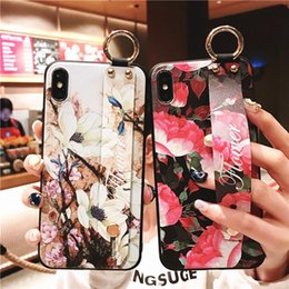 Sand Iphone Australia - Wholesale retail 2019 new Embossed case with Wrist strap for iPhoneXR iPhoneXS MAX cases Silica gel grinding sand cover for iphone 678