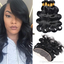 $enCountryForm.capitalKeyWord Australia - New Product Body Wave Peruvian Hair 4 Bundles With Full Frontal Natural Black 7a Virgin Brazilian Hair Beauty Cheap Virgin Hair Bundles Sale