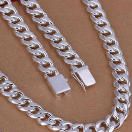 925 sterling silver chains 24inch UK - 10MM 20-24inch Quartet Side Necklace 925 Sterling Silver Chain Necklace With Top Quality Chains Hip Hop Necklaces