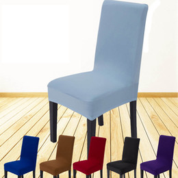 DHL New Solid Stretch Banquet Chair Cover Slipcovers Dining Room Wedding Party Pageant Hotel Short Covers SH C02