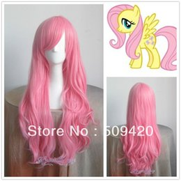 $enCountryForm.capitalKeyWord Australia - hot sell new - >$Hot Sell ! Pony Fluttershy Long Pink Cosplay Wavy Wig Lady Girls Cosplay Peluca Products WIGS
