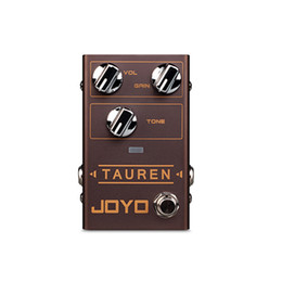 Overdrive Pedal Effect Australia - JOYO R-01 TAUREN Electric Guitar Effect Pedal Overdrive High Low Gain Distortion Overload Monoblock Effect Guitar Accessories gold