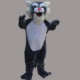 $enCountryForm.capitalKeyWord UK - Adult Mascot Costume Leopard Cat Halloween Christmas Birthday Character Costume Dress Gray Cat Mascot Free Shipping