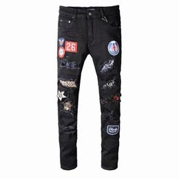 $enCountryForm.capitalKeyWord Australia - SS19 New model AI5412 Arrive Skinny Water wash Motorcycle Jeans Desinger single cow thickened Slim paris quality plugs Men jeans