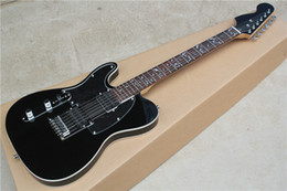 black left handed guitar NZ - Factory Black Left-Hand Electric Guitar with Tree of Life Fret Inlya,Mirror Pickguard,Chrome Hardware,Can be customized