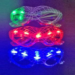 glow party decorations Australia - 5pieces lot Party Decoration Led Spiderman Glasses Birthday Gift Christmas Cool Cartoon Led Glowing Glasses Halloween Supplies
