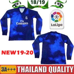 92aa66779a6 reduced 19 20 real madrid long sleeve soccer jersey ea sports asensio modric  bale sergio ramos