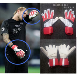 Fiber Performance Australia - Hot Sales soccer Goalkeeper gloves football Predator Pro Same paragraph Top Quality Protect finger performance zones techniques adult 8-10