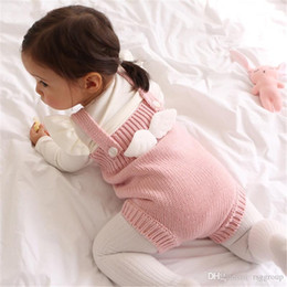 $enCountryForm.capitalKeyWord Australia - Winter Spring Baby Girls Rompers Pink INS New Autumn Infant Angle Back Jumpsuit Kids Girls Sweater Bodysuit Front Button Babies Oneise