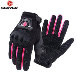 Scoyco Racing Gear Australia - Protective Gears Gloves Scoyco Women Motorcycle Gloves Knight Full Finger Small Size S to XL Pink Mujer Luva Moto Race Female