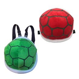 Styles Backpacks Australia - 2 Styles Super Mario Shoulder Bags Bros Koopa Troopa Plush Bag Turtle Shell Cushions Pillows Backpacks Gifts