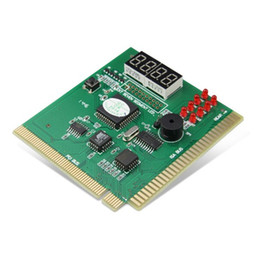 pci post diagnostic card NZ - 4 Digit Display Analyzer Computer LCD Diagnostic Card Motherboard Post Tester PC Analysis PCI Card Networking Tools