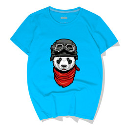 bb11e1790 New fashion O-neck summer Panda head Cotton men's casual fashion trend  short-sleeved T-shirt hip-hop T-shirt shirt T-shirt
