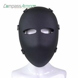 Venta al por mayor de Venta al por mayor del ejército balístico máscara facial completa máscara de combate táctico caza máscara protectora cara balística NIJ nivel IIIA 3A