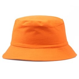 Chinese  Travel Fisherman Leisure Bucket Hats Solid Color Fashion Men Women Flat Top Wide Brim Summer Cap For Outdoor Sports Visor YD044 manufacturers