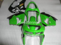 Kawasaki Zx9r 1998 Green Fairing Australia - High quality plastic fairing kit for Kawasaki Ninja ZX9R 98 99 green black bodywork fairings set ZX9R 1998 1999 YW24