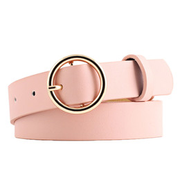 Band Clothes For Australia - 2018 New Women Lady PU Girl Waist Candy Colors Female All-Match Band for Dress-in Belt Clothing Accessories C19010301