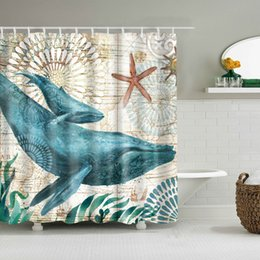 $enCountryForm.capitalKeyWord Australia - Ocean Sea Life Fish Curtains Colorful Bright Waterproof Shower Bathroom With Hooks Ring