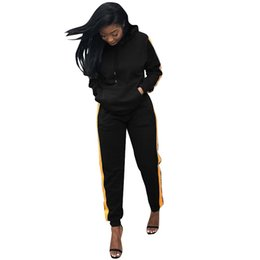 Sexy Lady Suit Casual Australia - 2018 Full Sleeve Winter tracksuit Drawstring Women Set Hoodies+Pencil pant Lady fashion sexy two pieces suits casual TS878