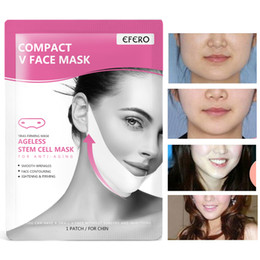 face masks peel off Canada - EFERO Lifting Face Masks V Shape Face Slim Chin Check Neck Lift Peel-off Mask V Shaper Face Slimming Bandage Skin Care