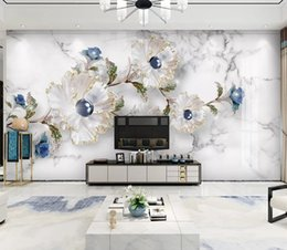 $enCountryForm.capitalKeyWord NZ - 3D Elegant jewels wallpaper Embossed Crystal Diamonds Photo Wallpaper Mural Flower Jewelry Pearls Sofa TV Background Wall Decor papier peint