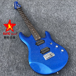 painting stock Australia - in stock EART electric guitar, metallic blue paint, Korean bridge pickup, stainless steel character, charcoal burned Canadian maple neck,
