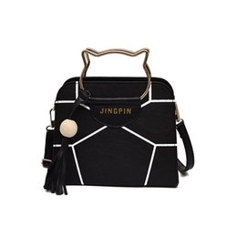 636880d5efcd good quality 2019 Fashion Style Pu Leather Ladies Cute Cats Handbags Solid  Color Large Shoulder Bag Wings Bag Cat Messenger Bags