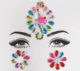 2019 абзац 15 3D кристалл блеск драгоценности татуировки наклейки женская мода лицо тела драгоценные камни цыганский фестиваль украшения партия макияж красоты