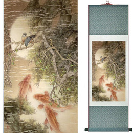 $enCountryForm.capitalKeyWord Australia - Birds And Flowers Murals Silk Rolling Traditional Chinese Painting House Decoration Painting 2019072014