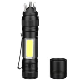 function suits NZ - Cross Border Mini- Light Led Flashlight More Function Suit Screw Driver Led Flashlight Cob Tool Lamp