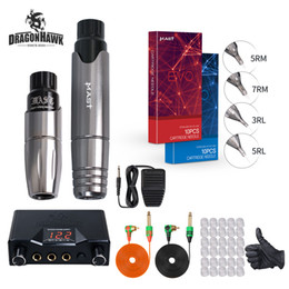 rotary tattooing NZ - Dragonhawk Mast Tour Tattoo Kit Rotary Tattoo Pen Guns Dual Power Supply for Body Tattoo Permanent Makeup
