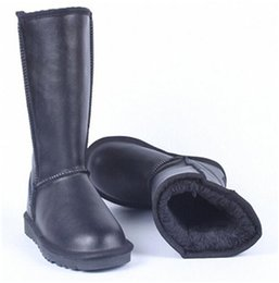 White Faux Fur Shorts Australia - 2019 women boots Australian Boots ug Women Snow Boots Waterproof Leather Winter Warm Outdoor Short Boot Winter Shoes designer shoes
