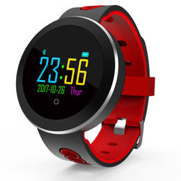 Q8 Smart Watch Australia - Smart Bracelet Q8 PRO Fitness Tracker Color Screen Pedometer Heart Rate And Blood Pressure Monitoring Smart Watch Red