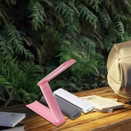 $enCountryForm.capitalKeyWord Australia - fashion led Folding table lamps lights bedroom study room office bedside Silver Pink Grey dimmable desk lamps SY0268