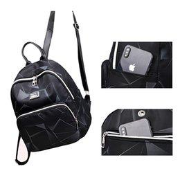 $enCountryForm.capitalKeyWord Australia - Geometric Women Backpack Small Black Waterproof Oxford Back Pack for Teenager Girls School Bags Bag Pack Woman College
