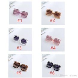 $enCountryForm.capitalKeyWord Australia - Stylish Baby boomer Diamond Rivet Sunglasses Square Frame Eyeglasses Boys And Girls Sports Rhinestone Edge Colors Mix Ultraviolet Protection