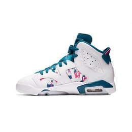 10e5e5731e037f J6 Shoes UK - Womens 6s basketball shoes j6 air flight Green Abyss Aleali  May Black