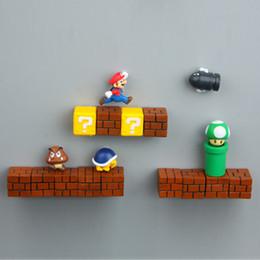 Game maGnets online shopping - Super Mario DIY Fridge Refrigerator Magnet FC Childhood Game Japan Cartoon Gaming Cartoon D Ice Box Paster Icebox Sticker