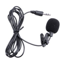 Free Mini Laptops UK - 3.5mm Clip On Mini Microphone Lapel Tie Hands Free Lavalier Mic For Laptop PC BK Drop Shipping Support