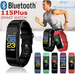 $enCountryForm.capitalKeyWord Australia - 2019 NEWEST 115 Plus Waterproof Smart Bracelet Sport Smart Watch Sedentary Remind Fitness Tracker Smart Wristbands For Android IOS SmartBand