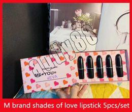 Discount new lipstick shades - 2019 New M lip Makeup 5pcs set Matte Lipstick Shades of Love Natural LOVE Lips Set