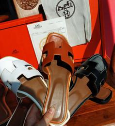 81c660a0cd Chaussures femme en Ligne-Sandales plates de marque Hermes Designer Casual  Lady pour femmes,