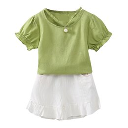 e7a7f71d6be9 Baby Clothes Set Toddler Kids Baby Girl Ruffled T Shirt Tops +Shorts 2PCS  Outfit Sets Summer Kids Top Shirts