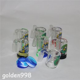 $enCountryForm.capitalKeyWord Australia - hot sale Rick and Morty Glass Ash Catcher with 5ml silicone container quartz banger 14mm for glass bong water pipe oil rig ashcatchers