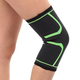 Discount tennis elbow support sleeve - 1 Pair Unisex Knee Sleeve Compression Support Protector Basketball Tennis Kneepads Wraps Gym Brace Cycling Guard Breatha